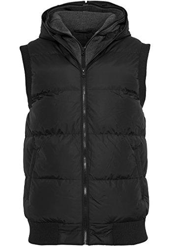 Urban Classics Double Hooded Vest Veste sans manches noir/anthracite S