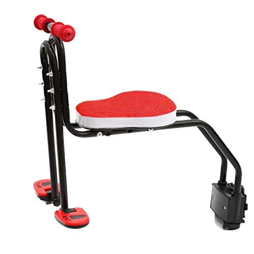 Innerternet Kindersattel Fahrrad Vorne, Kindersitz Fahrrad, Faltbare Fahrrad-Vordersitz Kindersitz Pedal mit Griff für Herrenfahrrädern und Damenrädern (Rosa)