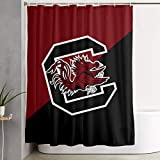 OHFSCTN South Carolina Gamecocks Colleage Team Waterproof Shower Curtain Stain Resistant Shower Liner for Shower Stall, Bathtubs,(59x71 Inch) with 12 Hooks 72X72IN