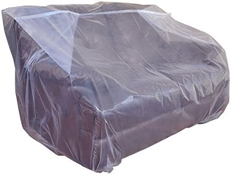 Best CRESNEL Furniture Cover Plastic Bag for Moving Protection and Long Term Storage (Loveseat 2 Packs)