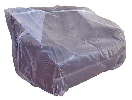 CRESNEL Furniture Cover Plastic Bag for Moving Protection and Long Term Storage (Sofa 2 Packs)