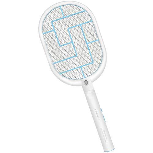 Chlry Tueur Electrique raquette Moustiques Mouche, 2000 mAh-Akku Sicherheitsdesign USB aufladbar LED-Licht Mückenkiller Mückenfalle Anti moskito Mücken Mücke insektenvernichter