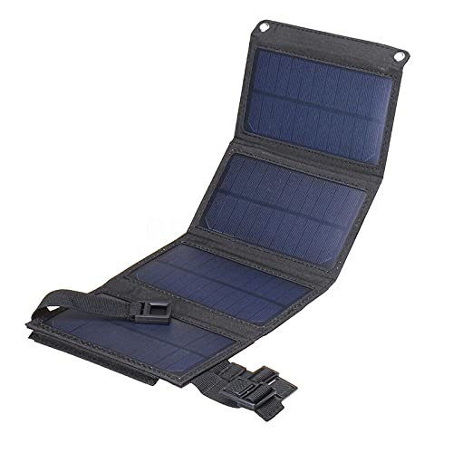 sZeao Cargador Solar Impermeable Portátil Plegable Panel Solar 7W con Diseño De Mini Billetera Solar Power Bank para Teléfono Inteligente, Almohadilla, Cámara, Tableta, Altavoces Bluetooth,A