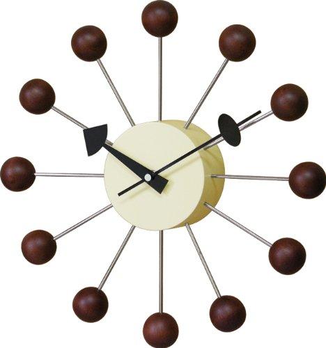 GEORGE NELSON BALL CLOCK ジョージ・ネルソン ボールクロック GN397WB ウォルナット 51920054