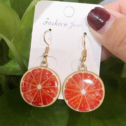 DAN Resin stereo lemon orange earrings long pendant fashion summer fruit jewelry for girls and teenagers gifts wholesale,11