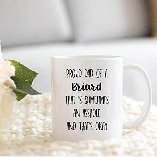 Taza de regalo, regalo para los amantes de los Briard, papá, mamá, regalo para Navidad o cumpleaños, taza de café divertida de 325 ml