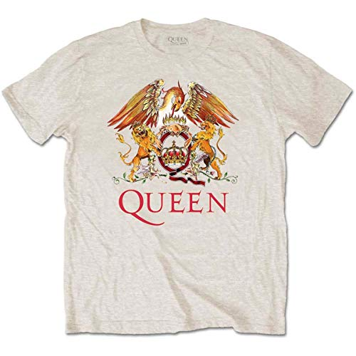 Rockoff Trade Queen Classic Crest T-Shirt, Beige (Neutral Neutral), Large Homme