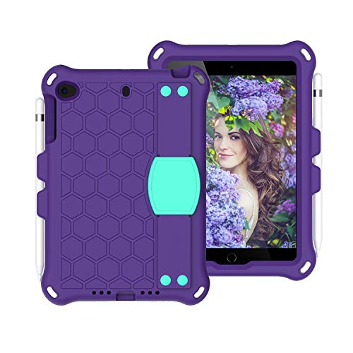 ZHENGNING Protective Case For For Kids Case for iPad Mini 5 4 3 2 1,Lightweight and Full-Body Shockproof EVA+PC Tablet Case,Rugged Duty, Shockproof,Hand Grip, Shoulder Strap Tablet Slim Cover Shell