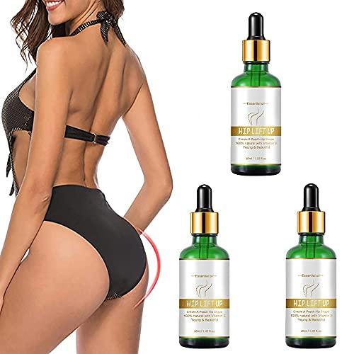 30 ml Hip Lift Up Essential Oi, Crema Sexy para agrandar los glúteos de la cadera, Crema para eliminar la celulitis para agrandar los glúteos de las mujeres (3 piezas)