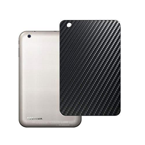 Vaxson 2 Unidades Protector de pantalla Posterior, compatible con TOSHIBA dynabook Tab VT484/26K / VT484/23K / VT484/22K 8inch, Película Protectora Espalda Skin Cover - Fibra de Carbono Negro