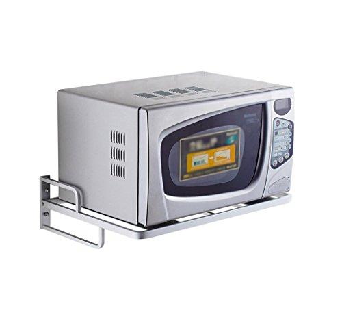 MICROWAVE OVEN RACK Regal Für Mikrowelle,Ofen/Wandhalterung für Küche Mikrowelle Backofen Wandhalterungen Edelstahl Universal Regal Mikrowellenhalterung
