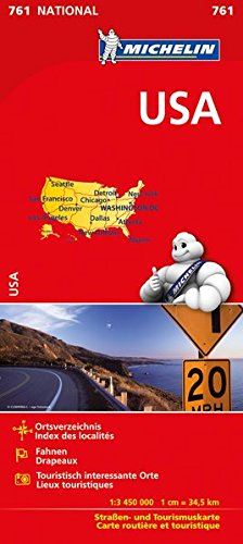 Michelin USA: Straßen- und Tourismuskarte 1:3.450.000 (MICHELIN Nationalkarten)