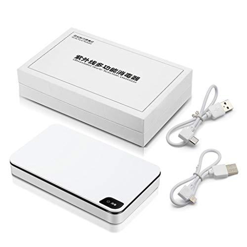 GYPING Stérilisateur UV,Box Nail Art stérilisation Téléphone Portable Portable Montres désinfecteur Multifonction Chargeur sans Fil Appareil aromathérapie,White-OneSize