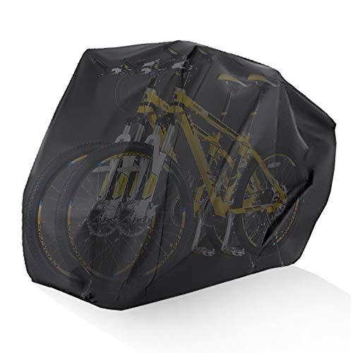 Funda Bicicleta Cubierta de bicicleta al aire libre Impermeable Cubierta de ciclismo apretada Almacenamiento Protector a prueba de polvo de nieve para 2 bicicletas Accesorios para bicicletas Funda Bic