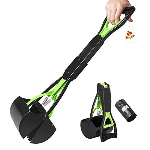 SCPET Pet Pooper Scooper for Dogs and Cats with Long Handle Foldable Dog Poop Waste Pick Up Rake,...