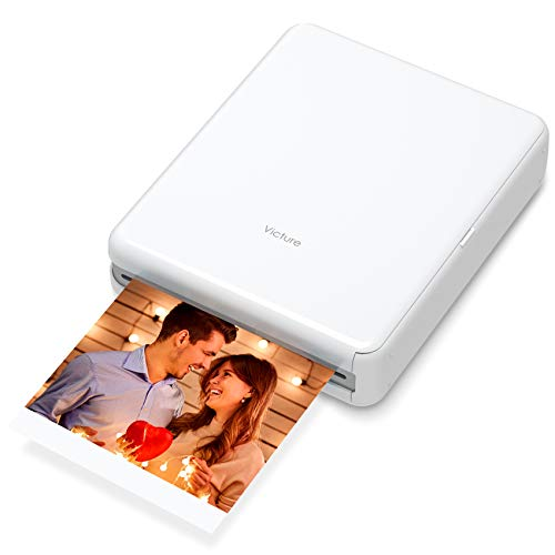 Victure Impresora de fotos portátil de 3 x 3 pulgadas, conexión Bluetooth, recargable, incluye 10...