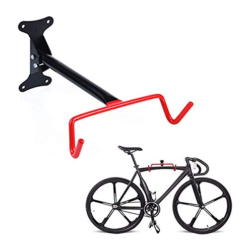 Bike Wall Mount Hanger,Heavy Duty Dual Hook Folding Holder for Hanging Bike Mountain Bike Display Rack Bike Stands with Screws for Garage Space Saving
