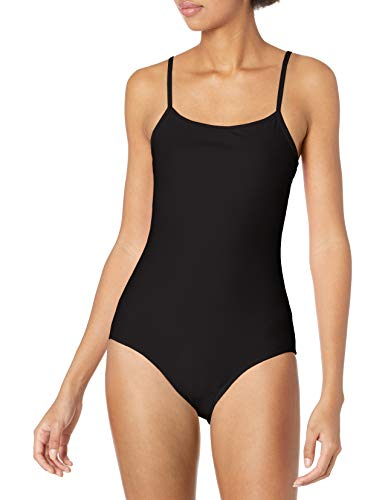 Cynthia Rowley Women's Low Scoop Maillot One-Piece Swimsuit, Black, X-Small