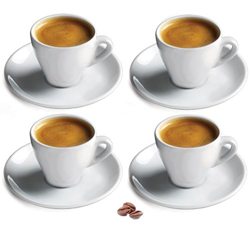 Cuisinox Porcelain Espresso Cups (Set of 4), White