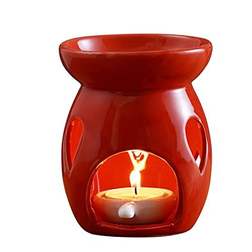 DZTIZI Retro Quemadores Cera Velas Cerámica Horno Aromaterapia Lámpara Aceite Esencial Decoración del Dormitorio Hogar,A