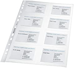 abheftbar DURABLE Klarsichthüllen für Visitenkarten A4 10x für je 20 Karten