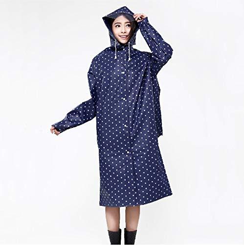 LSLS Poncho Impermeabile Poncho Fashion Aiincoat Portable Raincoat all'aperto Uomini e Donne in Sella a Guidare Il Viaggio di Campeggio Impermeabile Mantella Pioggia (Color : A, Size : Large)
