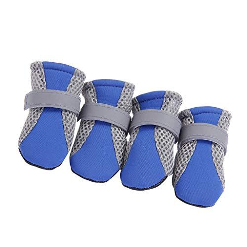 F Fityle Hondenschoenen, ademend, voor hardlopen, wandelen, poot bescherming / enkellaarsjes - blauw L