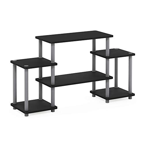 Furinno TurnNTube No Tools Entertainment TV Stands Black/Grey