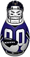 "Fremont Die NFL Baltimore Ravens Bop Bag Inflatable Tackle Buddy Punching Bag, Mini: 12"" Tall, Team Colors"