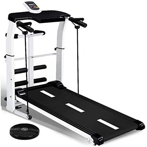 QINYUP Treadmill Mini Indoor Sports Silent Folding Mechanical Walking Machine Home Weight Loss Fitness,Black