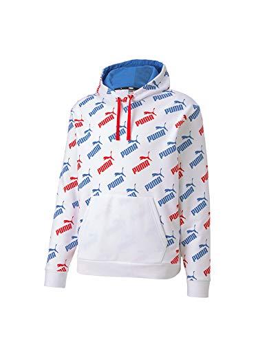 PUMA Herren Amplified Hoody Tr Sweatshirt, weiß-Palace blau, XL
