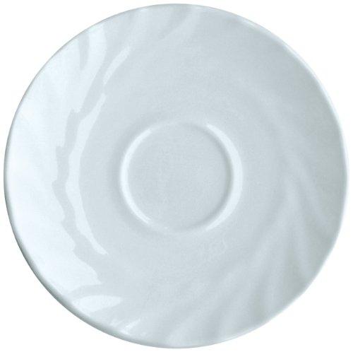 ARC INTERNATIONAL Esmeyer 441-046 12er Pack Kaffee-Untertassen TRIANON mit einem Durchmesser von 14 cm, Hartglas Made in Europe,