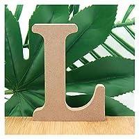XIZHOUCUN 1ピース10センチの木製の文字のアルファベット名デザインアート工芸品立っている単語文字誕生日パーティーの結婚式の家の装飾3.94インチ 装飾 (Color : L)
