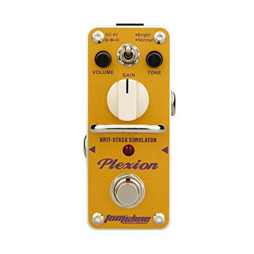 Tom'sline Engineering PLEXION APN-3, Pedal de efecto de distorsión, recreación de 70-80 Marshall amplificador de tono con 2 modos de pedal de guitarra brillante y normal