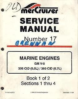 1995 MERCRUISER MARINE ENGINES GM V-8, 305/350 CID SERVICE MANUAL # 17 (164)