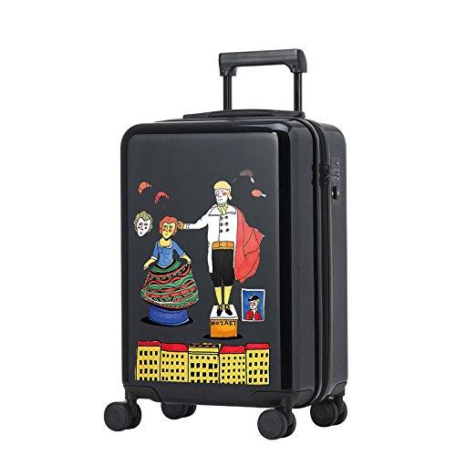 Equipaje Lyl Ligera TSA Maleta demostró Caso (Color : Black, Size : 24 Inch)