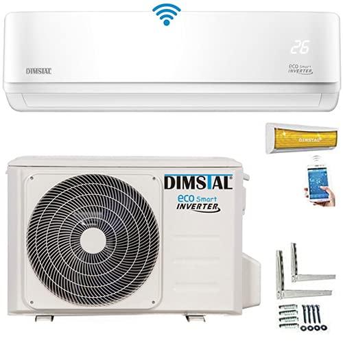 ECO Smart INVERTER WiFi/WLAN 12000 BTU Split Klimaanlage mit Wärmepumpe Klimagerät mit Heizfunktion SmartHome (3,5 kW)