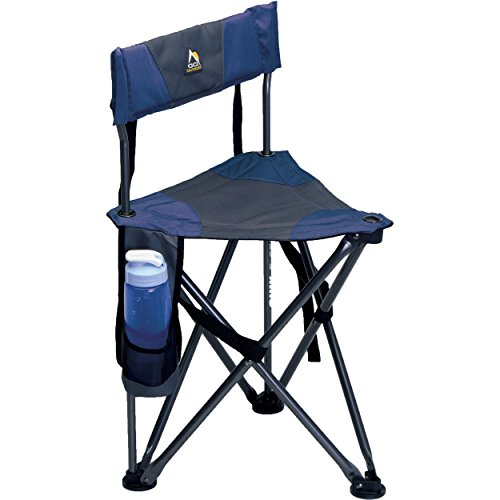 GCI Outdoor Quick-E-Seat Folding Tripod Field Chair with Backrest, Midnight