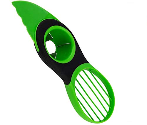 XBRN Avocado Slicer, 3-in-1 Avocado Cutter Tool with Comfort-Grip Handle, Avocado Pitter, Avocado Cutter