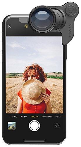 olloclip Teleobjektiv 2x Linse für iPhone X mit optischem Zoom I Premium Optik dank hochwertigem Glass Komplex - Schwarz