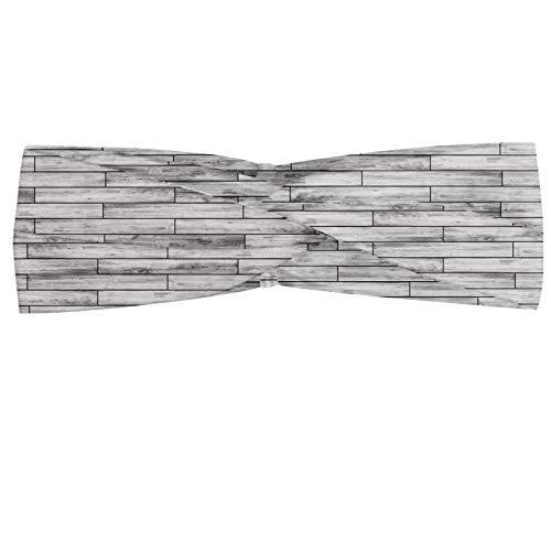 ABAKUHAUS Taupe Halstuch Bandana Kopftuch, Bild von einem Parkett Grau Holz Textur Rusty Retro antiken Alte Anzeige Striped Tile, Elastisch und Angenehme alltags accessories, Taupe Grau