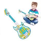 LVJUNQ 2 Modos de música Guitarra eléctrica Multifuncional para niños con Linterna, la Salida de Volumen se Ajusta a un Nivel moderado, Adecuado para familias, oficinas, Viajes al Aire Libre