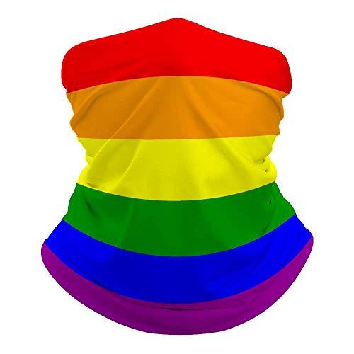 Gay Pride Flag Neck Warmer Bandana Cooling Neck Polaina Verano Transpirable Protección contra el Polvo UV Balaclava Cubierta Facial para Deportes al Aire Libre