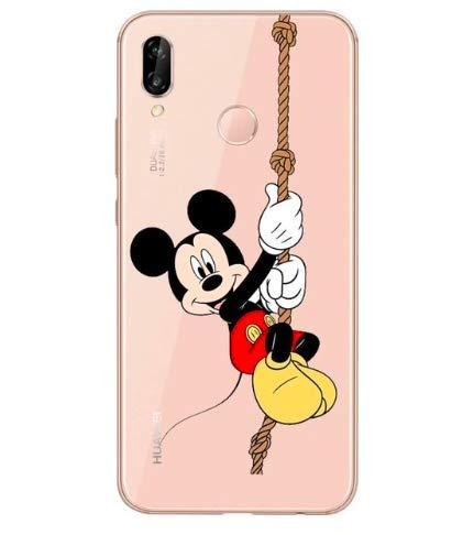 Todo Fundas para Huawei Mickey Mouse Minnie Walt Disney Pato Donald Daisy Pluto Goofey Chip Chop Niños Dibujos Carcasa Gel Silicona (Huawei P20,...