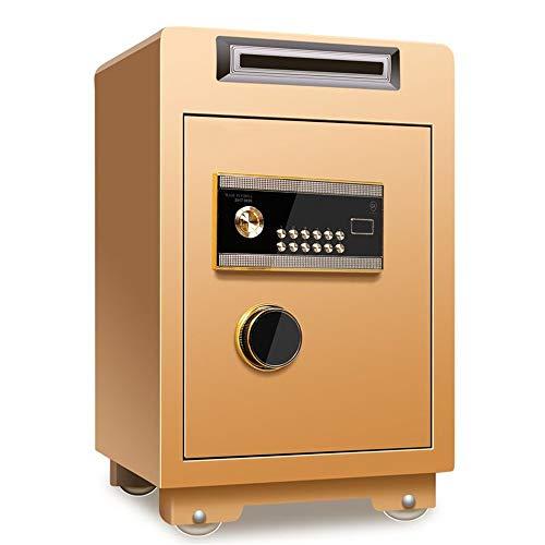 SUPRIEE Safe Münz-Tresor Fingerabdruck Anti-Diebstahl-Kabinett 60cm hoch Office Home Supermarkt Cash Register Box All Steel Große Kapazität Sicherheit Elektronische Sicherhei