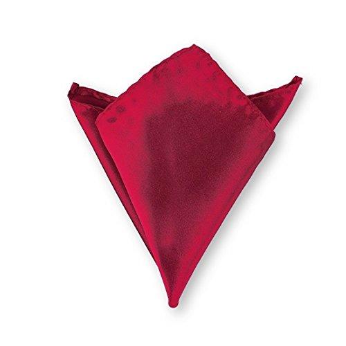 LABEL-CRAVATE Pochette de costume rouge-bordeaux finitions main