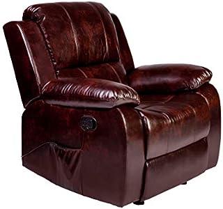 RelaxZen Clarkson Massage Recliner, Brown