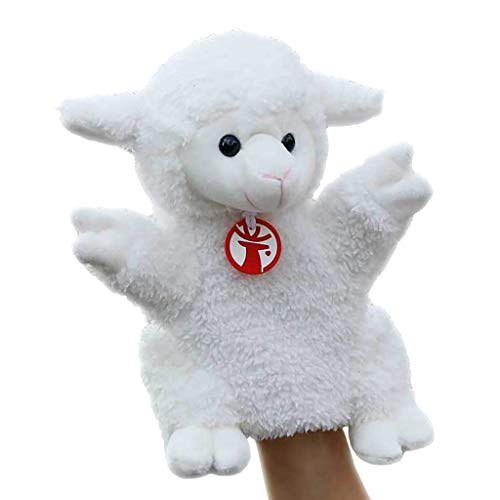 Animal marioneta de mano de cordero - 30 cm (11,8' pulgadas) Soft divertido felpa ovejas marionetas de mano juguetes de la muñeca for los niños - for contar historias, la enseñanza, preescolar y juego