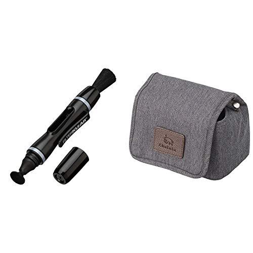 【セット買い】HAKUBA メンテナンス用品 レンズペン3 【フィルター用】 ブラック KMC-LP14B & HAKUBA カメラケース Chululu(チュルル)カメラケース S チャコール SCH-CCSCG