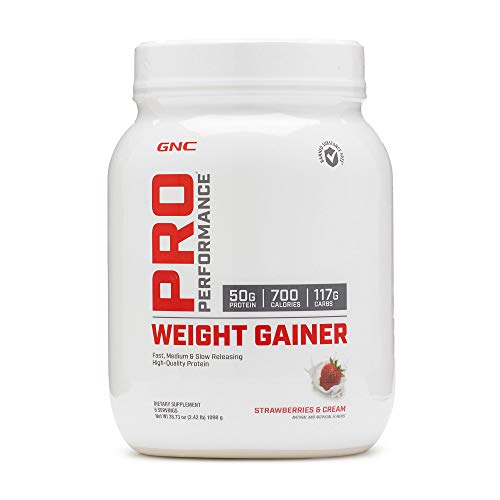 GNC Pro Performance Weight Gainer - Strawberries and Cream, 6 Servings, High-Quality Protein to Increase Mass